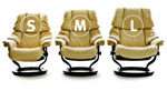 Most Stressless chairs are available in three sizes